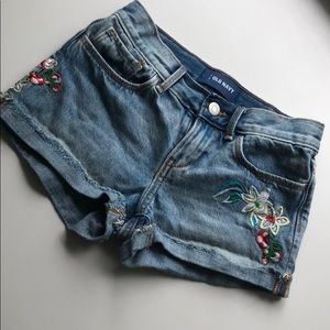 Old Navy Embroidered Jean Short